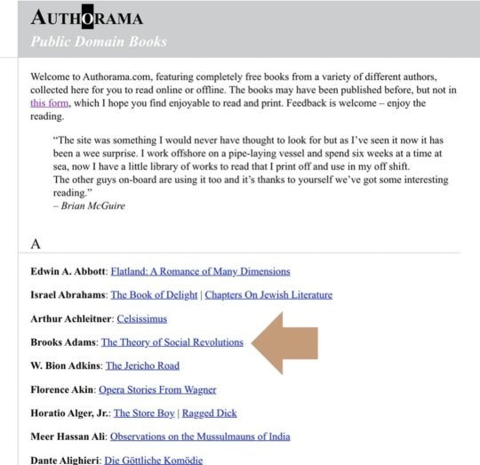 Authorama - read books online
