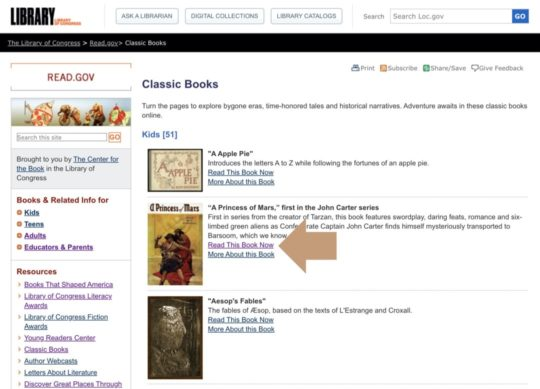 Library of Congress - read books online